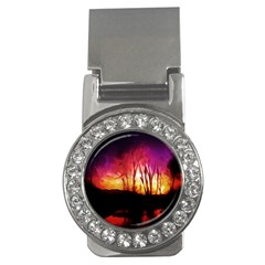 Fall Forest Background Money Clips (cz)  by Simbadda