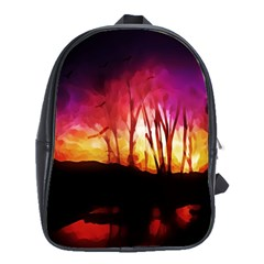 Fall Forest Background School Bags(large)  by Simbadda