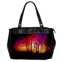 Fall Forest Background Office Handbags by Simbadda