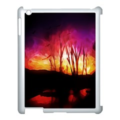 Fall Forest Background Apple Ipad 3/4 Case (white) by Simbadda