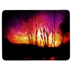 Fall Forest Background Samsung Galaxy Tab 7  P1000 Flip Case by Simbadda