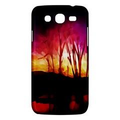 Fall Forest Background Samsung Galaxy Mega 5 8 I9152 Hardshell Case  by Simbadda