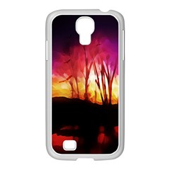 Fall Forest Background Samsung Galaxy S4 I9500/ I9505 Case (white) by Simbadda