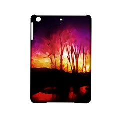 Fall Forest Background Ipad Mini 2 Hardshell Cases by Simbadda