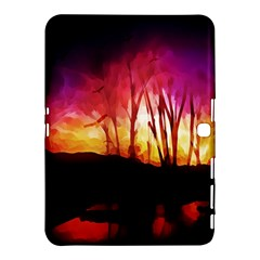 Fall Forest Background Samsung Galaxy Tab 4 (10 1 ) Hardshell Case  by Simbadda