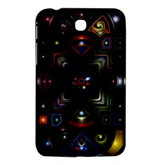 Geometric Line Art Background In Multi Colours Samsung Galaxy Tab 3 (7 ) P3200 Hardshell Case  by Simbadda