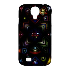 Geometric Line Art Background In Multi Colours Samsung Galaxy S4 Classic Hardshell Case (pc+silicone) by Simbadda