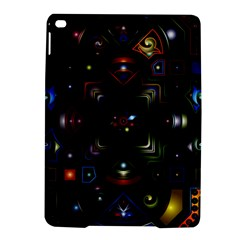 Geometric Line Art Background In Multi Colours Ipad Air 2 Hardshell Cases by Simbadda