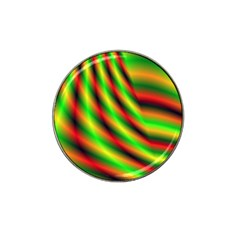 Neon Color Fractal Lines Hat Clip Ball Marker (4 Pack) by Simbadda