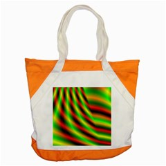 Neon Color Fractal Lines Accent Tote Bag by Simbadda