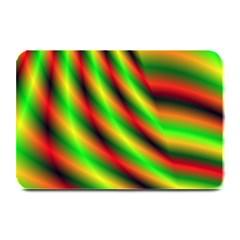 Neon Color Fractal Lines Plate Mats by Simbadda