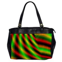 Neon Color Fractal Lines Office Handbags by Simbadda