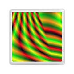 Neon Color Fractal Lines Memory Card Reader (square)  by Simbadda