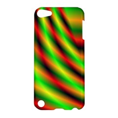 Neon Color Fractal Lines Apple Ipod Touch 5 Hardshell Case by Simbadda
