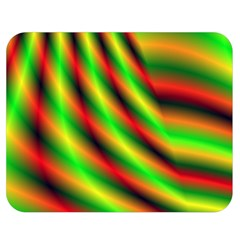 Neon Color Fractal Lines Double Sided Flano Blanket (medium)  by Simbadda