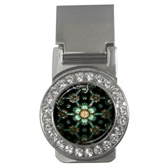Kaleidoscope With Bits Of Colorful Translucent Glass In A Cylinder Filled With Mirrors Money Clips (cz)  by Simbadda