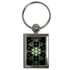 Kaleidoscope With Bits Of Colorful Translucent Glass In A Cylinder Filled With Mirrors Key Chains (rectangle)