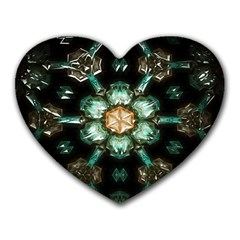 Kaleidoscope With Bits Of Colorful Translucent Glass In A Cylinder Filled With Mirrors Heart Mousepads by Simbadda