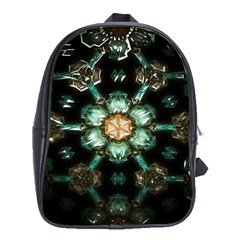 Kaleidoscope With Bits Of Colorful Translucent Glass In A Cylinder Filled With Mirrors School Bags(large)  by Simbadda