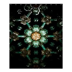 Kaleidoscope With Bits Of Colorful Translucent Glass In A Cylinder Filled With Mirrors Shower Curtain 60  X 72  (medium)  by Simbadda