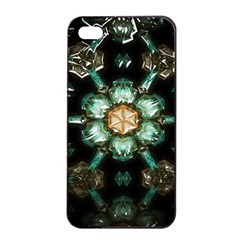Kaleidoscope With Bits Of Colorful Translucent Glass In A Cylinder Filled With Mirrors Apple Iphone 4/4s Seamless Case (black) by Simbadda