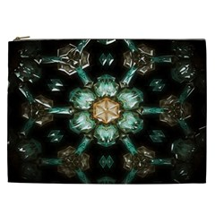Kaleidoscope With Bits Of Colorful Translucent Glass In A Cylinder Filled With Mirrors Cosmetic Bag (xxl)  by Simbadda