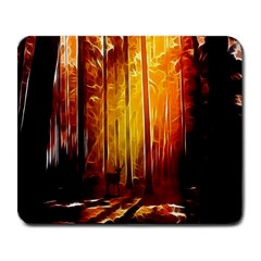 Artistic Effect Fractal Forest Background Large Mousepads by Simbadda