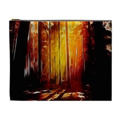 Artistic Effect Fractal Forest Background Cosmetic Bag (xl) by Simbadda