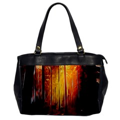 Artistic Effect Fractal Forest Background Office Handbags by Simbadda