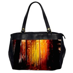 Artistic Effect Fractal Forest Background Office Handbags (2 Sides)  by Simbadda