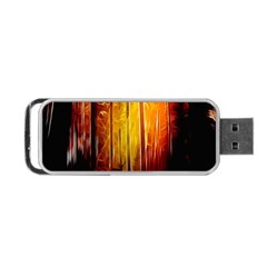 Artistic Effect Fractal Forest Background Portable Usb Flash (one Side) by Simbadda