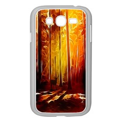 Artistic Effect Fractal Forest Background Samsung Galaxy Grand Duos I9082 Case (white) by Simbadda