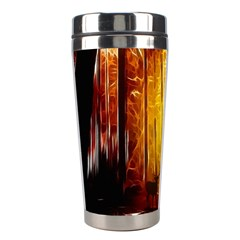 Artistic Effect Fractal Forest Background Stainless Steel Travel Tumblers by Simbadda
