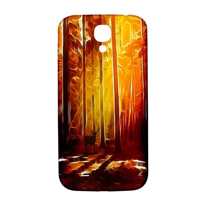 Artistic Effect Fractal Forest Background Samsung Galaxy S4 I9500/I9505  Hardshell Back Case