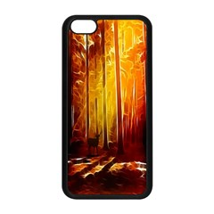 Artistic Effect Fractal Forest Background Apple Iphone 5c Seamless Case (black) by Simbadda