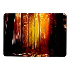 Artistic Effect Fractal Forest Background Samsung Galaxy Tab Pro 10 1  Flip Case by Simbadda