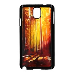 Artistic Effect Fractal Forest Background Samsung Galaxy Note 3 Neo Hardshell Case (black) by Simbadda