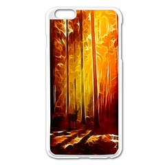 Artistic Effect Fractal Forest Background Apple Iphone 6 Plus/6s Plus Enamel White Case by Simbadda