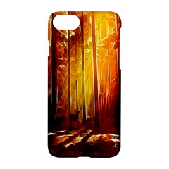 Artistic Effect Fractal Forest Background Apple Iphone 7 Hardshell Case by Simbadda