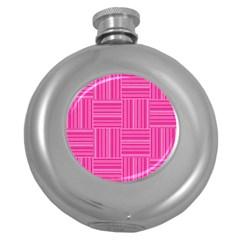 Pattern Round Hip Flask (5 Oz) by Valentinaart