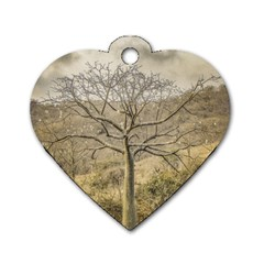 Ceiba Tree At Dry Forest Guayas District   Ecuador Dog Tag Heart (one Side) by dflcprints