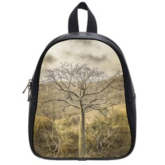 Ceiba Tree At Dry Forest Guayas District   Ecuador School Bags (small)  by dflcprints