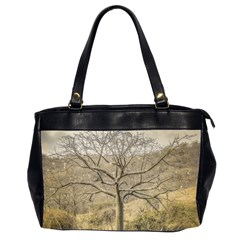 Ceiba Tree At Dry Forest Guayas District   Ecuador Office Handbags (2 Sides)  by dflcprints