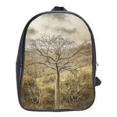 Ceiba Tree At Dry Forest Guayas District   Ecuador School Bags (xl)  by dflcprints