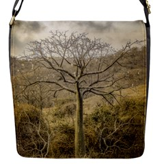 Ceiba Tree At Dry Forest Guayas District   Ecuador Flap Messenger Bag (s) by dflcprints