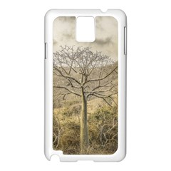 Ceiba Tree At Dry Forest Guayas District   Ecuador Samsung Galaxy Note 3 N9005 Case (white) by dflcprints