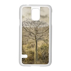 Ceiba Tree At Dry Forest Guayas District   Ecuador Samsung Galaxy S5 Case (white) by dflcprints