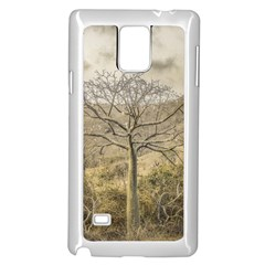 Ceiba Tree At Dry Forest Guayas District   Ecuador Samsung Galaxy Note 4 Case (white) by dflcprints