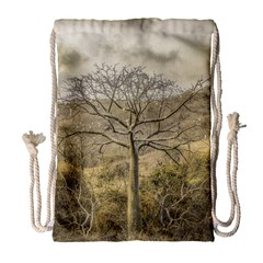Ceiba Tree At Dry Forest Guayas District   Ecuador Drawstring Bag (large) by dflcprints
