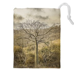 Ceiba Tree At Dry Forest Guayas District   Ecuador Drawstring Pouches (xxl) by dflcprints